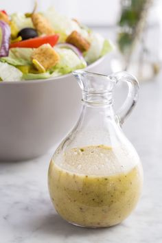 Here's how to recreate Olive Garden's salad dressing at home.  The result is a super-versatile dressing that you can make a big batch of and use on greens of course, but also brush it on roasted vegetables or grilled chicken for a special kick.