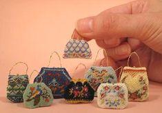 Mini handbag with embroidery