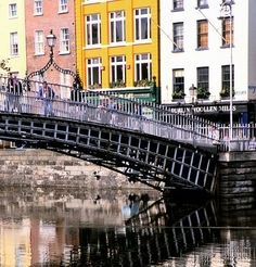 A walk over the Ha'penny Bridge that goes over the river