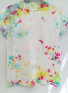 UNISEX (Small) Allover spatter Tie dye t shirt by FrancescaRoseJ on Etsy