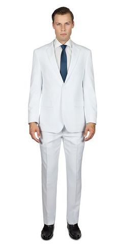 63edc5fbf4ce Alain Dupetit Men s Two Button Suit 32S White Alain Dupetit… Athletic Wear
