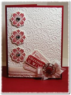Pretty Embossed Valentine's Day Card...