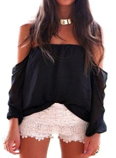 Wisteria Lane Off the Shoulder Blouse - Black