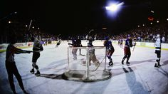 Outdoor hockey has become a regular part of the NHL calendar with the annual Winter Classic and Stadium Series games. But in 1991, the idea of playing an NHL game outdoors was nearly incomprehensible.But dreamers from the Los Angeles Kings and Caesars Palace in Las Vegas made outdoor hockey -- in the desert, no less -- a reality 25 years ago. On Sept. 27, 1991, the Kings and New York Rangers played a preseason game on a rink in the casino's parking lot.