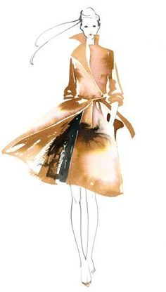 Kaori Yoshioka. Fashion illustration on Artluxe Designs. #artluxedesigns