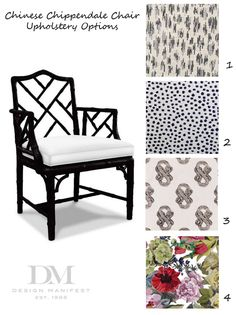 chinese chippendale upholstery orangerie black white