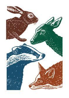 red squirrel lino - Google Search