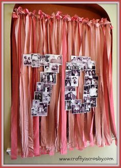 photo collage for a surprise 70th birthday party ~ large number layout like this would also make a nice arrangement for anniversary couples   via Crafty in Crosby