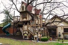 Grandparents Build an Amazing Victorian-Style Treehouse for their Lucky Grandkids