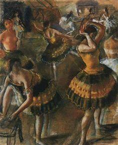 Ballet Dancers In Their Dressing Room Zinaida Serebriakova Born: 10 December 1884; Kharkiv, Ukraine Died: 19 September 1967; Paris, France Original Title: Балерины в уборной Date: 1923 Style: Art Nouveau (Modern)