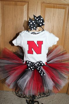 Nebraska Game Day Outfit--- James would look pretty awkward in this! Bama Fever, Catholic Schools Week, Dress Up Day, Baby L, Queen Outfit, 1st Birthday Outfits, Nebraska Game, Cute Photos, How To Look Pretty