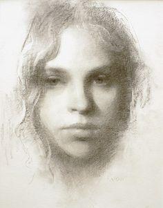 Nice portrait drawings by Susan Lyon.