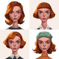 Gambit Movie, Gabriel, Skins Uk, Anya Taylor Joy, Queen, Period Dramas, Make Art, Illustrations Posters, Her Hair