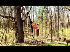 Hanging By A Vine - A video of Amanda Nicole Smith  playing on a vine as if it is a trapeze or lyra. #aerialacrobatics #acrobatics