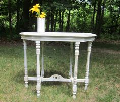 Vintage parlor table six legged accent /entry by OverboardStudio, $140.00