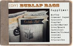I have a recent infatuation with burlap. It's cheap, cute, offers great texture and is so versatile! If you missed my Autumn Banner , you ca...