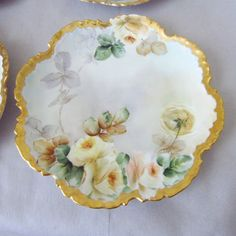 "6 Antique Rosenthal Monbijou Hand Painted 8"" Bavarian Plates with from applegate on Ruby Lane"