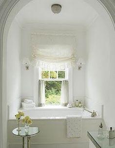 single window over tub...Bathrooms | Find the Latest News on Bathrooms at Carol Raley Interiors