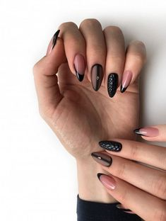 """51 Cute French Nail Art Designs Ideas To Wear Now Cool new french nail art designs for the new season 2019 will be dazzlingly beautiful, intriguing and sometimes funny. For fashionistas for each season offered \""""his\"""" fashionable French nail art with d. Nail Art Designs, Classy Nail Designs, French Nail Designs, Black Nail Designs, Design Art, Design Ideas, Ruby Nails, Rose Gold Nails, Glitter Nails"""
