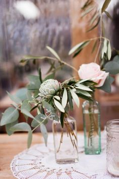 Beautiful Rustic Flowers via Kara & Jeff's Organic Country Wedding in New Zealand / Wedding Style Inspiration / LANE