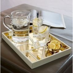 Nate Berkus Gold Mirrored Decorative Tray