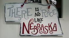Nebraska 'There is no Place like Nebraska' state door hang
