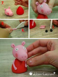 peppa pig em biscuit como fazer - Pesquisa Google
