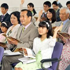 Una reunión de testigos de Jehová en Japón
