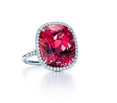 Tiffany and Co Pink Tourmaline and Diamond Ring @Brooke Beecher this is what i want to do with the rubies D gave me!!!
