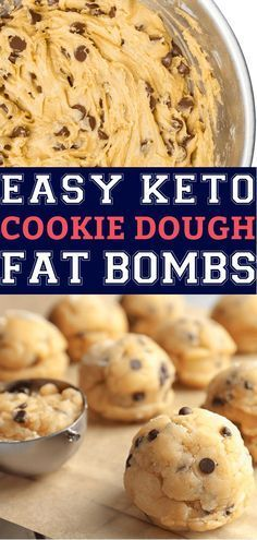 The best keto fat bombs on the ketogenic diet! Try this healthy, low carb snack recipe with cream cheese, peanut butter, sugar-free chocolate chips & butter for a keto dessert or snack that is out of this Keto Chocolate Chip Cookies, Sugar Free Chocolate Chips, Keto Cookies, Cookies Et Biscuits, Biscuits Keto, Chocolate Fat Bombs, Chocolate Butter, Mini Cookies, Keto Pancakes