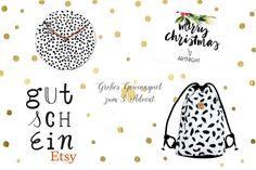 Gewinnspiel auf Frisch Verliebt - Wanduhr von Formart, Rucksack von  Unter Pinien sowie einen Gutschein für Etsy und ArtNight
