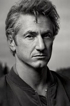 Sean Penn ..he ALWAYS looks pissed  off.  He is probably not a happy  person.