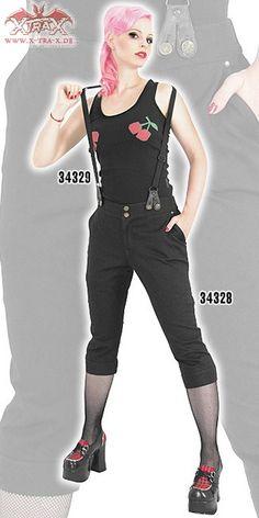 Capri Pants Bonnie & Clyde - Woo! Lady Suspenders!