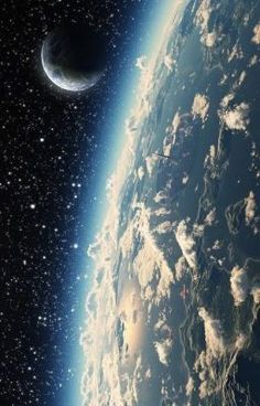 """Earth and Moon from space ~ Mik's Pics """"Cosmos"""" board Cosmos, Space And Astronomy, Astronomy Science, Space Planets, Galaxy Wallpaper, Wallpaper Earth, Hd Wallpaper, Wallpaper Space, Nature Wallpaper"""