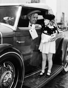 Will Rogers, Shirley Temple, 1930s - The 2 biggest movie stars of the day.
