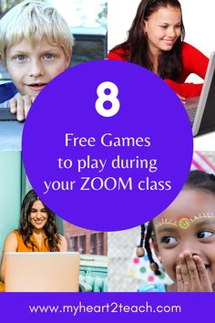 Student Games for the Zoom Classroom Virtual Games For Kids, Team Games For Kids, Games To Play, Fun Games, Fun Activities, Student Games, School Games, Kindergarten Games, Classroom Games