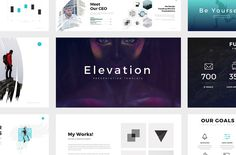 Elevation Minimal Powerpoint Theme by SlidePro on @creativemarket
