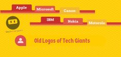 Old logos of tech giants