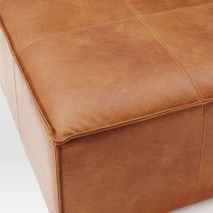Leather Ottoman #westelm