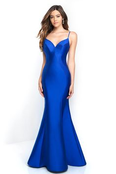 b2d4d5b3f1 Blush - C1050 Sculpted Sweetheart Mikado Mermaid Gown In Blue