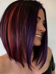 52 Sexy Long Bob Hairstyles You Should Try - Hairstyles Trends Long Bob Haircuts, Long Bob Hairstyles, Trendy Hairstyles, Hairstyles 2016, Concave Bob Hairstyles, Ponytail Hairstyles, Pelo Color Borgoña, Hair Looks, Short Hair Cuts