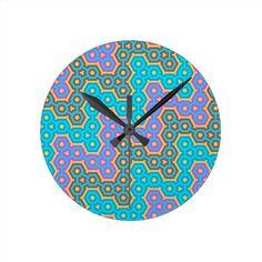 Trendy Oriental Vintage Patterns Clocks