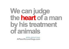 we can judge the heart of a man