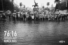 Intervenciones fotográficas por la memoria a 40 años del golpe militar