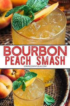 Peach Smash The Bourbon Peach Smash is a fruity, lightly-spicy, and refreshing cocktail that's perfect for a hot summer night. Non-alcoholic variation included in the recipe notes.The Bourbon Peach Smash is a fruity, lightly-spicy, and refreshing cocktail Refreshing Cocktails, Summer Drinks, Summer Sangria, Cocktail Fruit, Recipe R, Recipe Notes, Smash Recipe, Beste Cocktails, Alcohol Drink Recipes