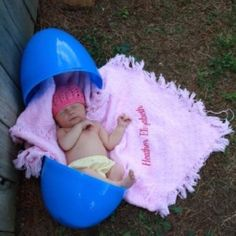 easter egg baby picture