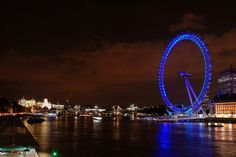 The Eye at Night, London, England by Cian