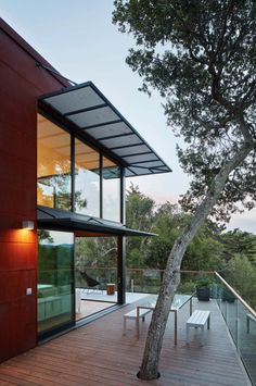 Striking sustainable smart home perched hillside in Mill Valley