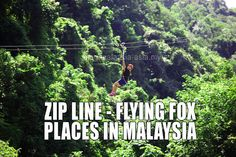 Zip Line Flying Fox Places in Malaysia | Malaysia Asia