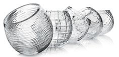 IVV952 Biglie Collection Mouthblown, hand cut and hand finished glass vases